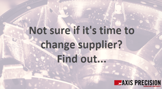 time to change supplier